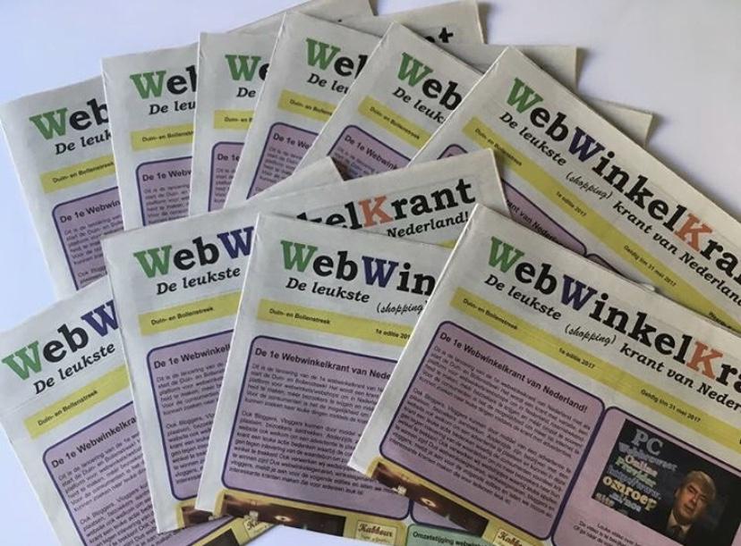 WebWinkelKrant eerste editie foto